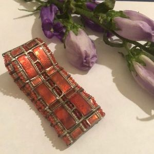 Vintage retro stretch orange bracelet